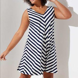 Loft Plus Chevron Double V Swing Dress! Size 24!